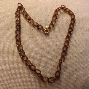 J Crew tortoise plastic necklace